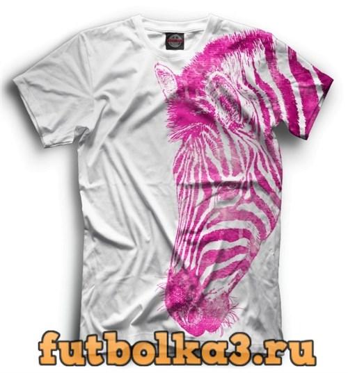 Футболка Розовая зебра мужская