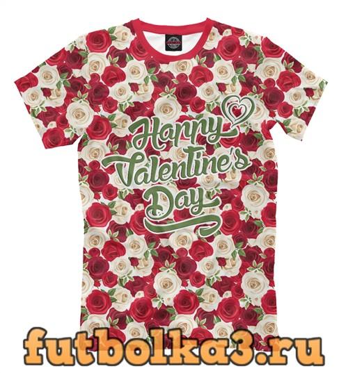 Футболка С днем святого валентина! мужская