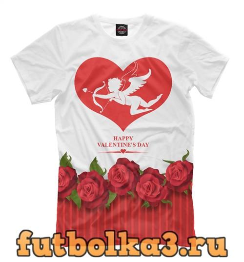 Футболка С днем всех влюблённых! мужская