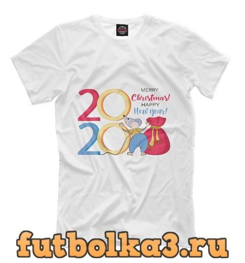 Футболка С новым годом и рождеством мужская