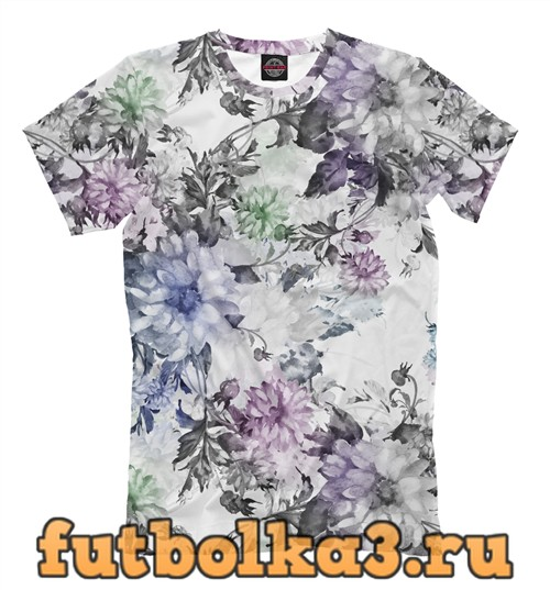 Футболка Садовые цветы мужская