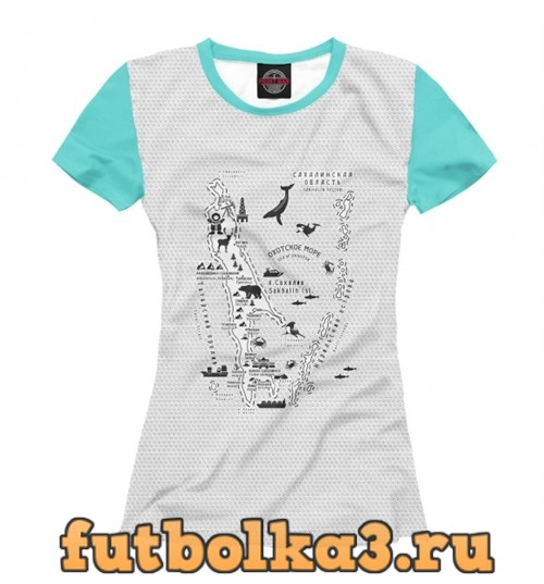 Футболка Сахалин женская