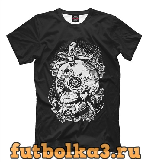 Футболка Сахарный череп мужская