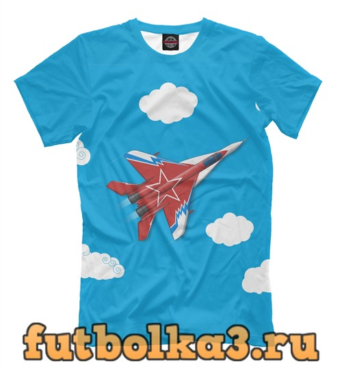 Футболка Самолет-истребитель мужская