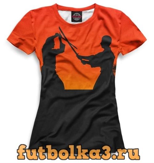 Футболка Самураи на закате женская