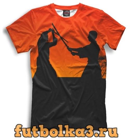 Футболка Самураи на закате мужская