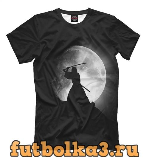 Футболка Самурай и луна мужская