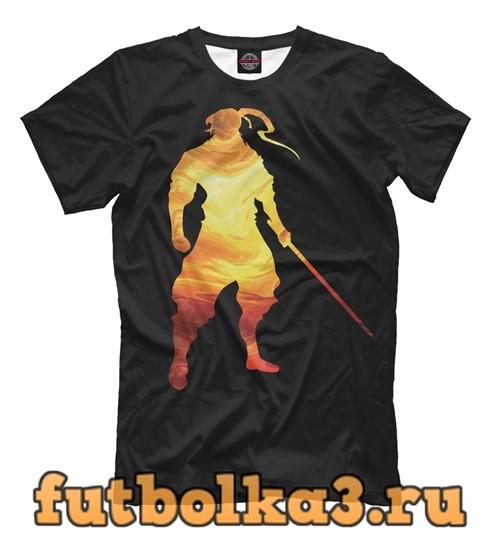 Футболка Самурай огонь мужская