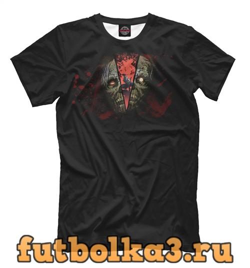 Футболка Самурай против зомби мужская