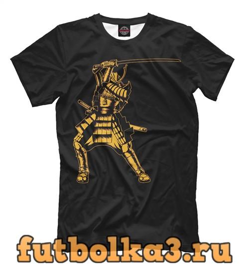 Футболка Самурай золотой мужская
