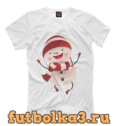 Футболка Самый веселый снеговик мужская