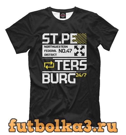 Футболка Санкт-петербург tech мужская