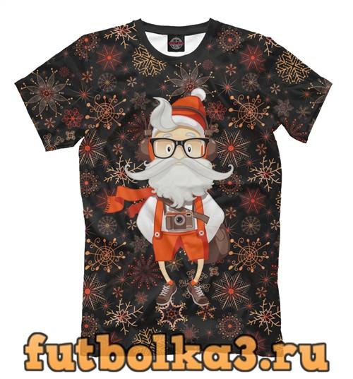 Футболка Санта хипстер мужская