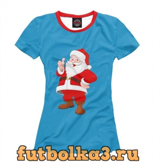 Футболка Санта Клаус женская