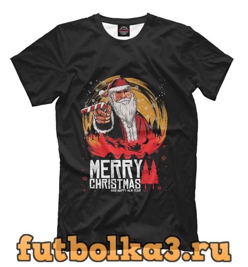 Футболка Санта клаус rdr2 мужская