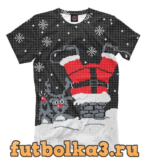 Футболка Санта клаус в трубе мужская