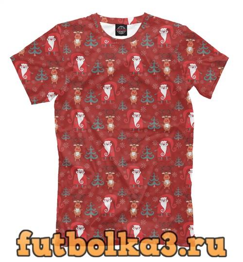 Футболка Санта клаусы мужская
