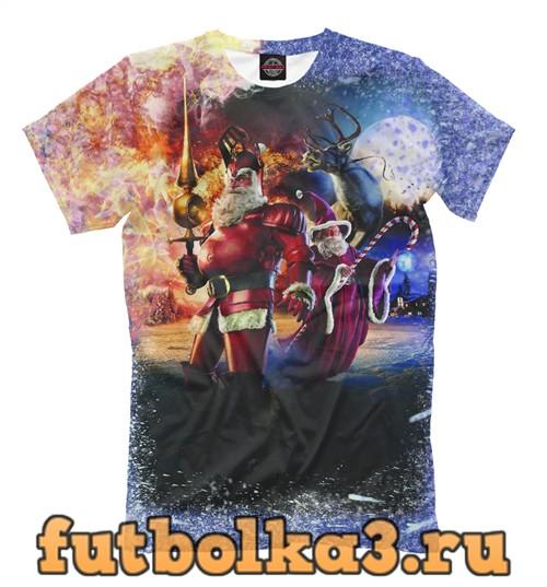 Футболка Санта клаусы супер герои мужская