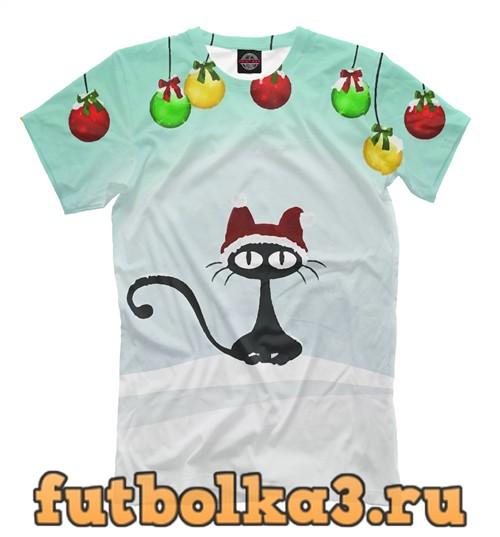 Футболка Санта котик мужская