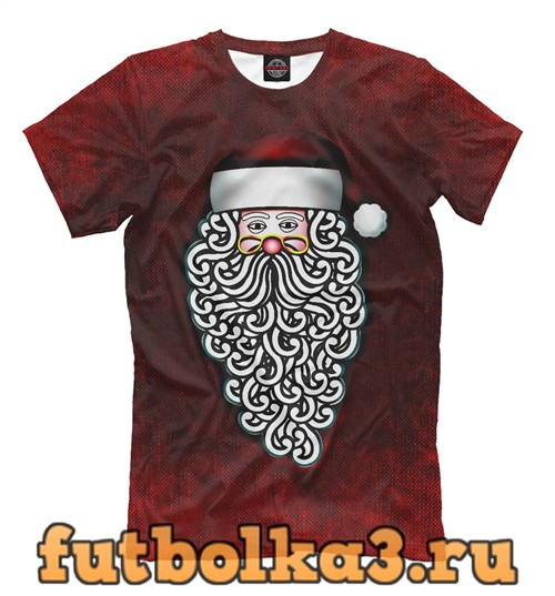 Футболка Санта мороз мужская