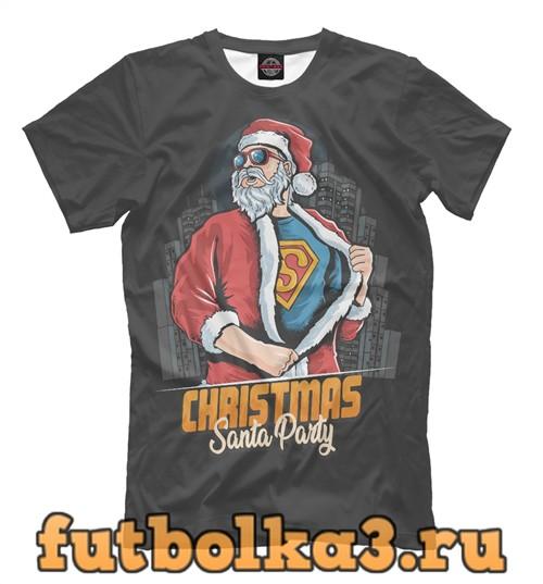 Футболка Santa party мужская