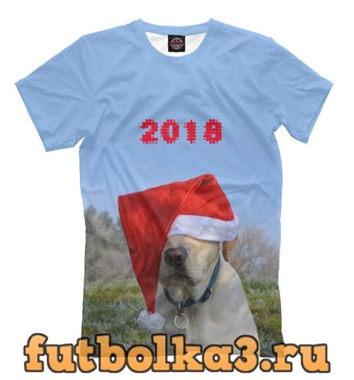 Футболка Санта пёс мужская