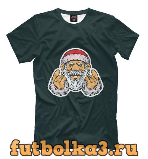 Футболка Санта рок мужская