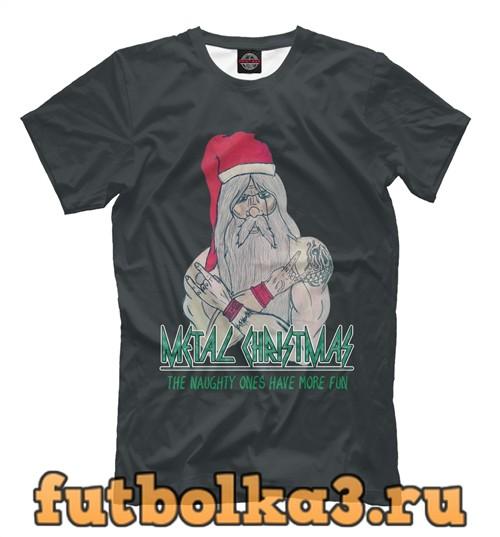 Футболка Санта рокер мужская