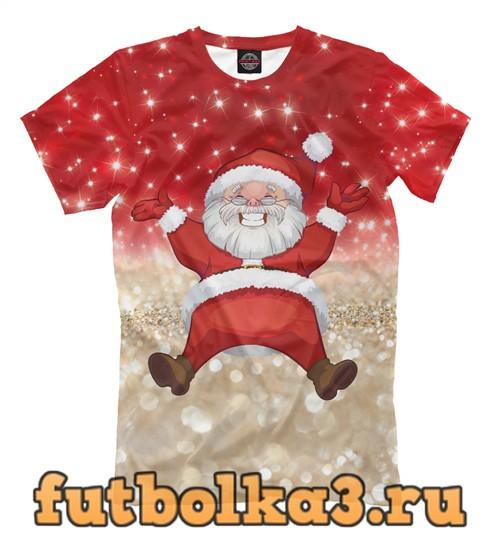 Футболка Санта в золоте мужская