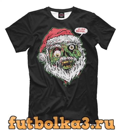 Футболка Санта зомби мужская