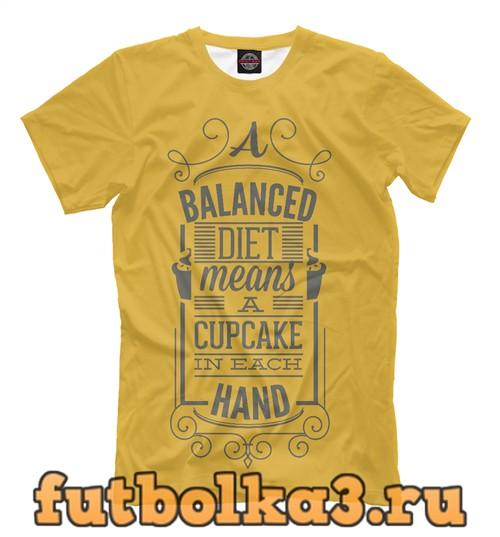 Футболка Сбалансированная диета мужская