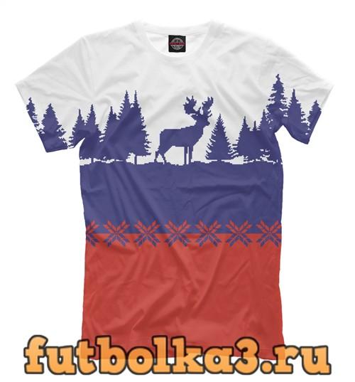 Футболка Свитер с оленями мужская