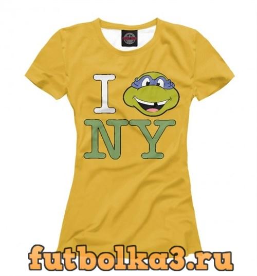 Футболка Turtles New York женская