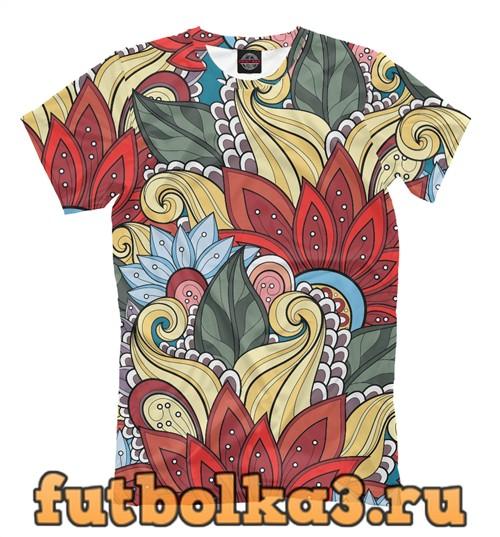 Футболка Яркие цветы мужская