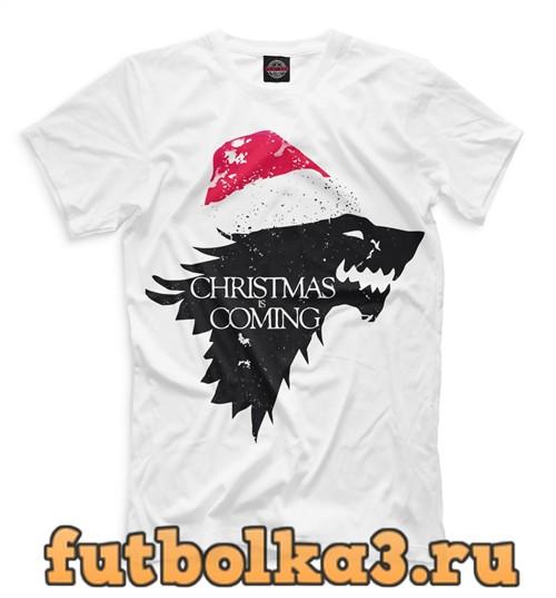 Футболка Christmas is coming мужская