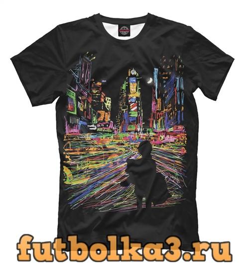 Футболка City never sleeps мужская