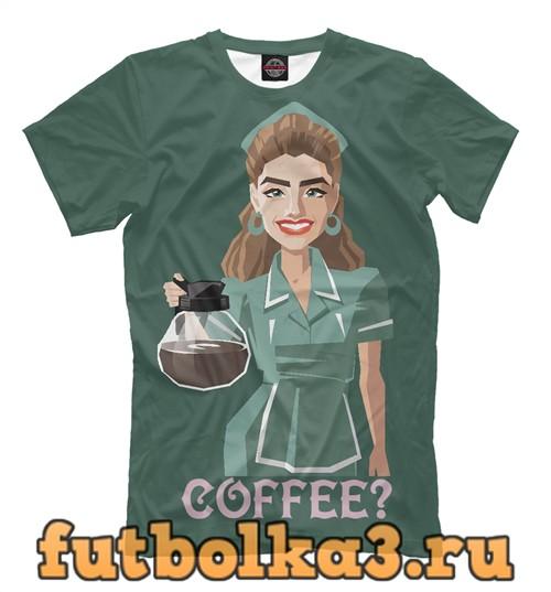 Футболка Coffee by shelly johnson twin peaks мужская