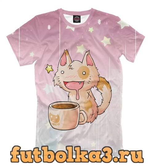 Футболка Coffee cat мужская