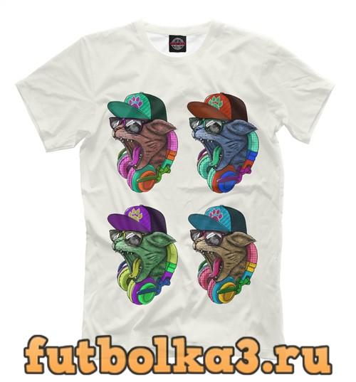 Футболка Cool cat party мужская
