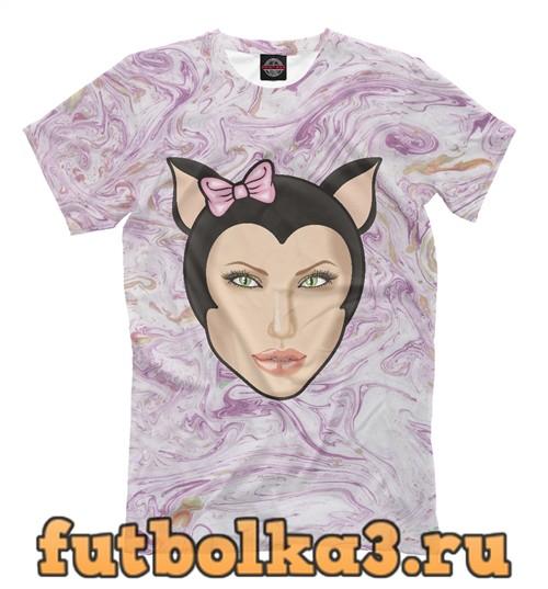Футболка Девушка-кошка мужская