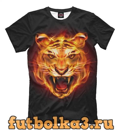 Футболка Flame tiger мужская