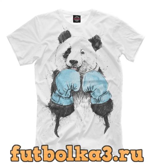 Футболка Панда боксёр мужская