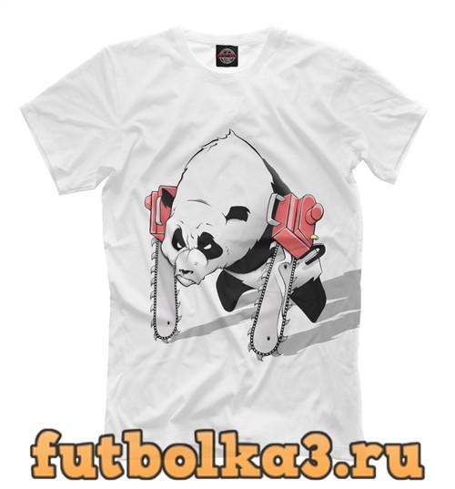 Футболка Панда руки-бензопилы мужская