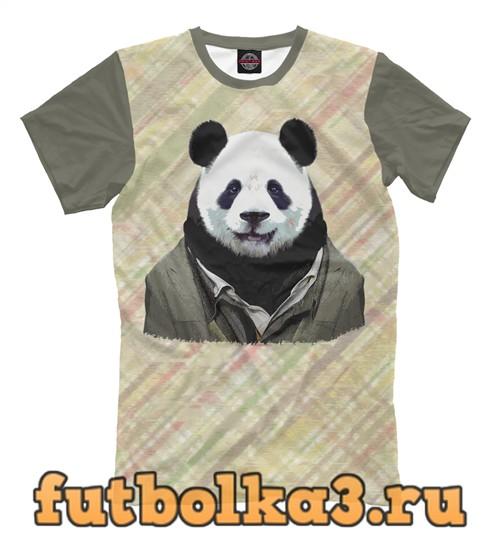 Футболка Панда в пальто мужская