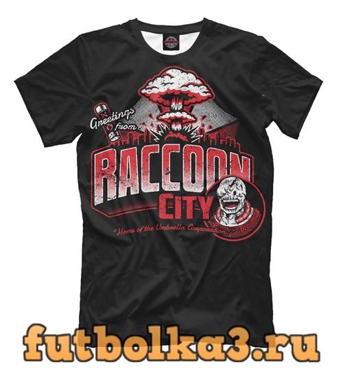 Футболка Raccoon city мужская