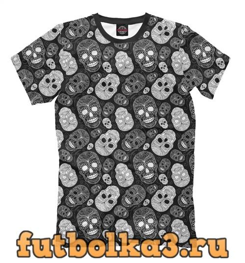 Футболка Сахарные черепа мужская