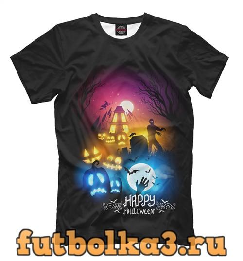 Футболка Счастливого хэллоуина мужская