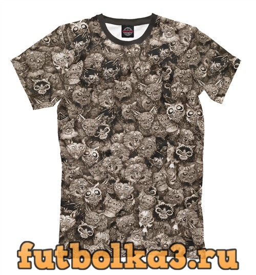 Футболка Зомби котики мужская