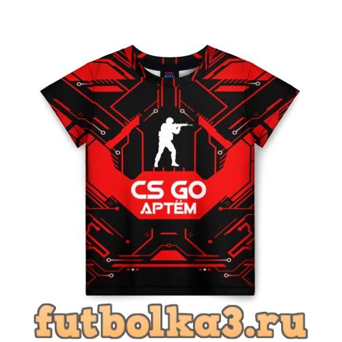 Футболка Counter Strike-Артём детская