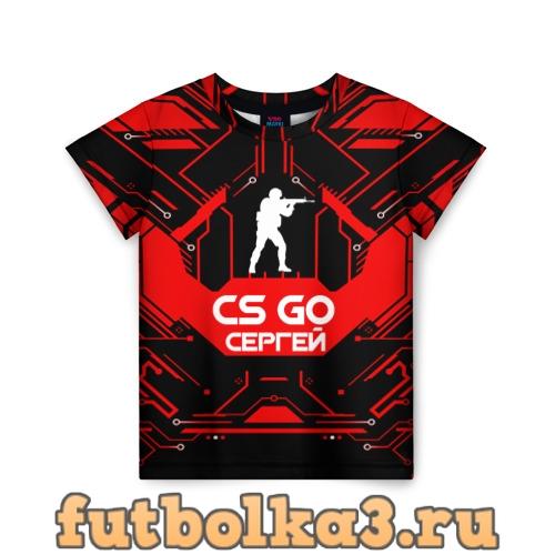 Футболка Counter Strike-Сергей детская